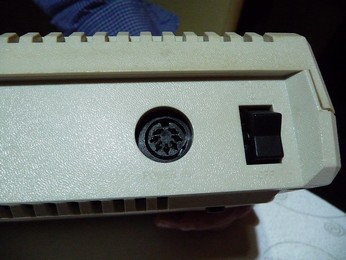 PAL Atari 800XL Power connector close-up